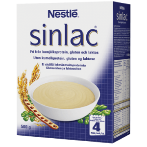 Bột Sinlac dành cho bé bị dị ứng sữa bò